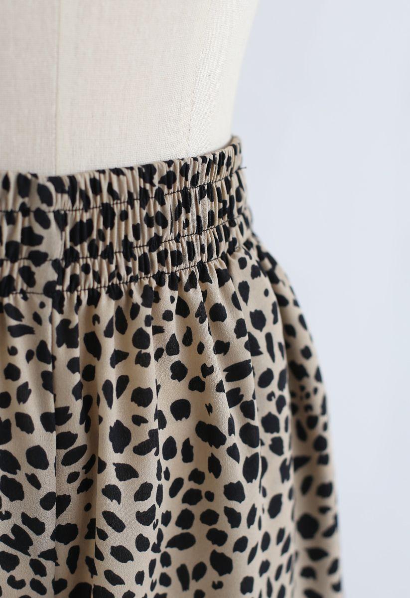 Lightsome Leopard Print Wide-Leg Pants