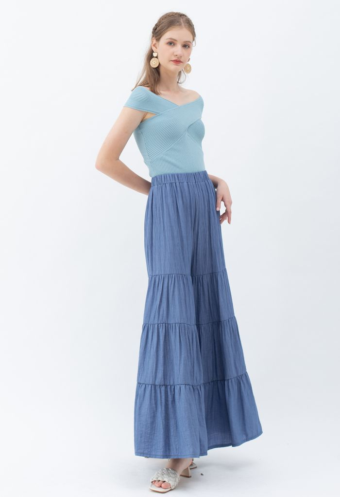 Sunny Days Wide-Leg Pants in Navy