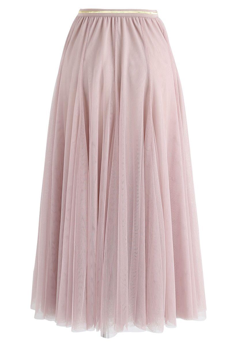 Falda larga de tul My Secret Weapon en rosa