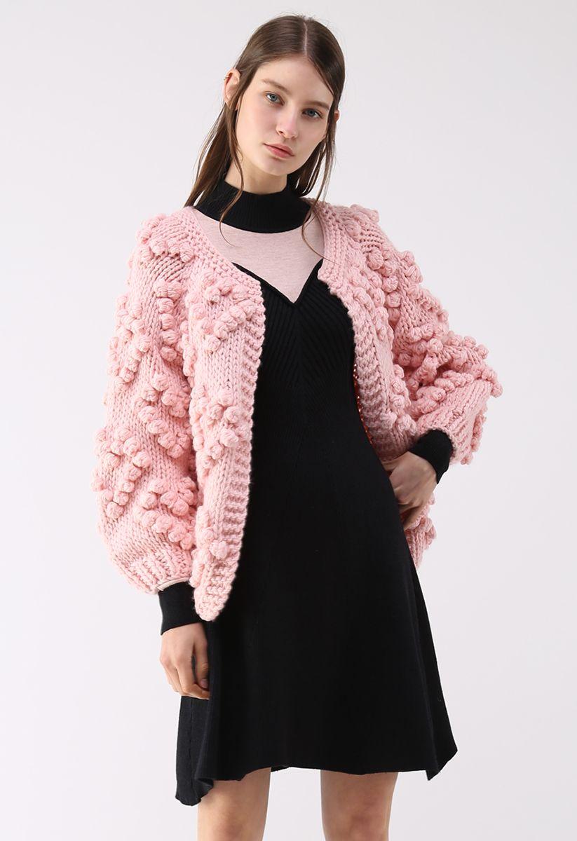 Cárdigan de punto de tu amor en rosa
