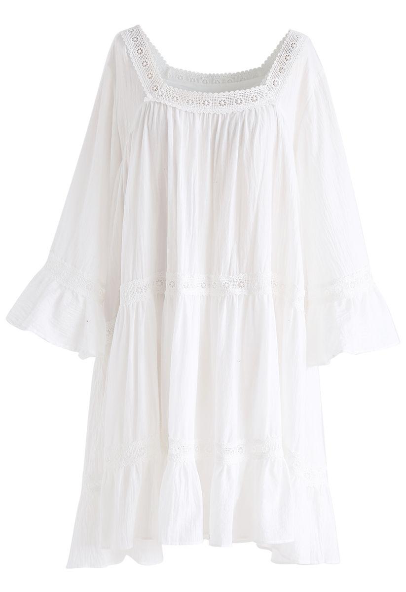 Revel en vestido romántico Dolly en blanco