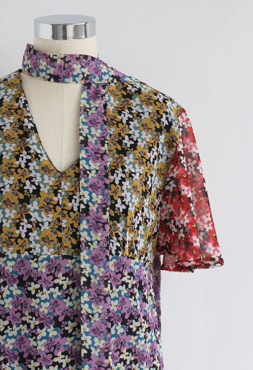 Encuéntrame en el vestido de gasa de Flower Land
