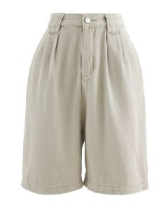 Relaxed Bermuda Shorts in Sand