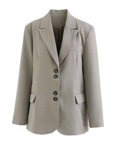 Sage Green Front Pocket Button Down Blazer