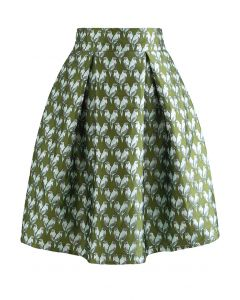 Little Birdie Jacquard Pleated Skirt