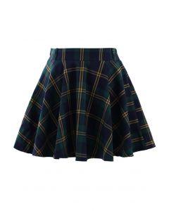 Falda Patinadora a Cuadros Color Verde