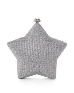 Bolso de Mano Rígido en Forma de Estrella