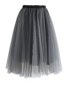 Falda de Tul Amore en Color Humo