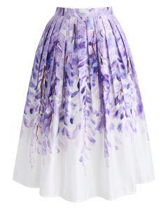 Falda midi estampada divina glicina