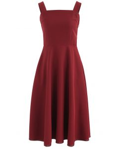 Elegante vestido camisola Instinct en vino