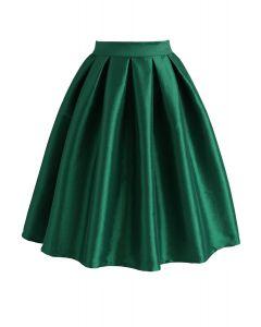 Falda Midi Color Verde