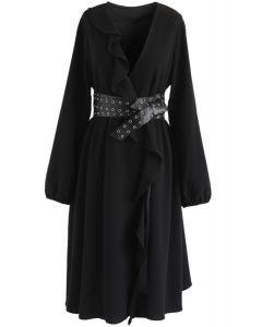 Vestido con volantes So Trendy en negro