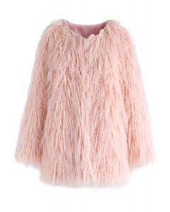My Chic Abrigo de piel sintética en rosa