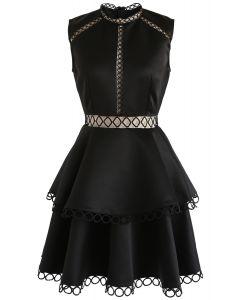 Vestido sin mangas Show Your Elegance Eyelet en negro