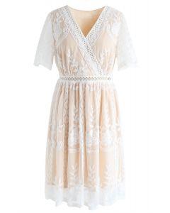 Vestido de malla bordado floral Sweet Dreams