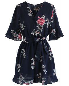 Morar en traje floral envuelto Dream Dream en azul marino