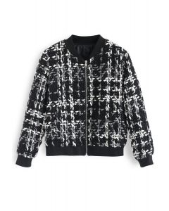 Chaqueta Everyday Fitted Chunky Textured en negro