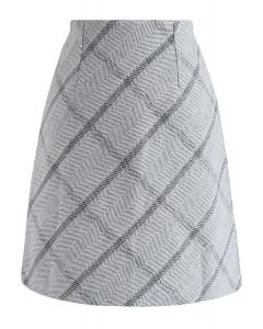 Falda Everyday Essential de mezcla de lana en gris