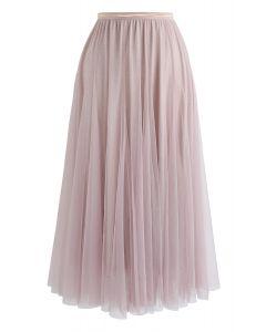 Falda larga de tul My Secret Weapon en rosa brillante