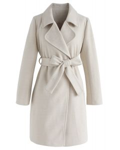 New Afternoon Longline Coat in Cream