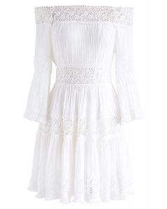 Heal the Heart Crochet Off-Shoulder Dress