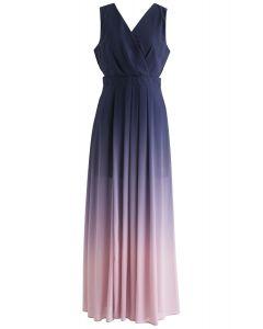 Vestido largo sin mangas Gradient Revelry en morado