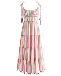 Vestido largo de rayas Rainbow Candies