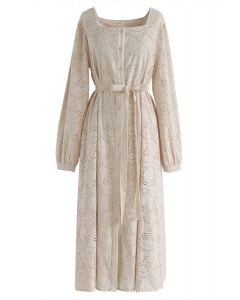 Weekend Island Embroidered Dress in Linen
