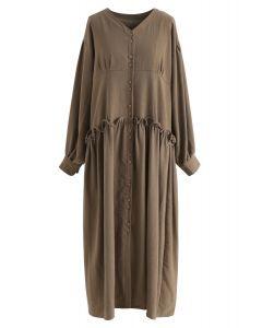 Vestido con botones de Into My Life en marrón