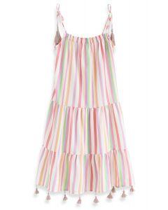 Vestido largo de rayas Rainbow Candies para niños