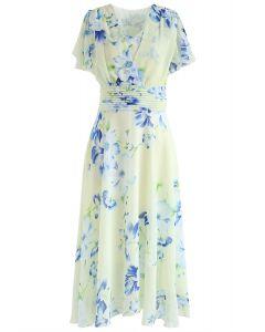 Vestido de gasa floral Sweet Surrender en crema