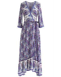 Vestido largo cruzado Boho de Paisley World