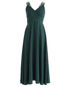 Vestido camisero perfecto con espalda cruzada Sunday en verde