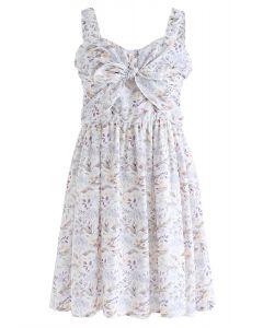 Ponme en tu corazón Bowknot Floral Cami Dress