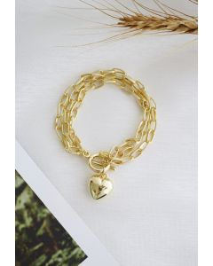Love Gold Chain Bracelet